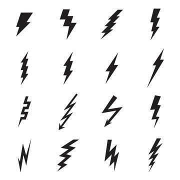 Lightning bolt icon. Vector illustration