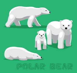 Bear Polar Bear Cartoon Vector Illustration