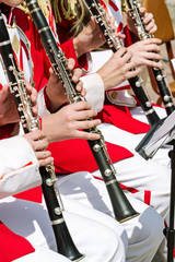 young clarinet players musical performance