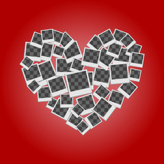heart filled frames for photos with transparent backgrounds on r