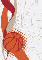 Vertical basketball poster.Abstract background