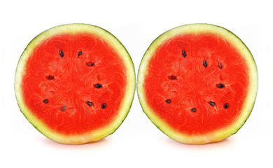 Water melon red on white background