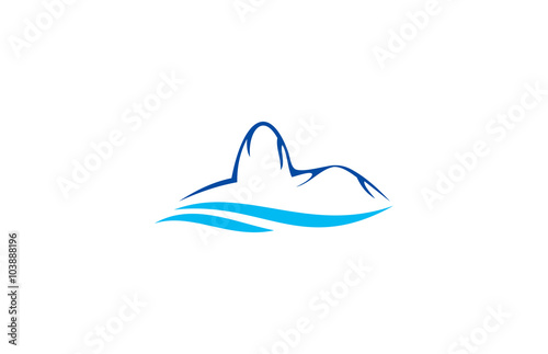 quot mountain wave logoquot stock image and royaltyfree vector