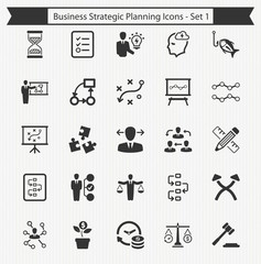 Business Strategic Planning Icons - Set 1