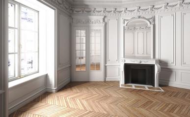 Obraz Salon im Jugendstil leer - fototapety do salonu