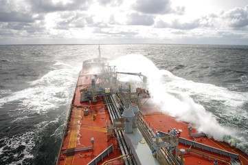Storm at Baltic Sea