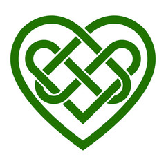Celtic Irish knot heart vector illustration