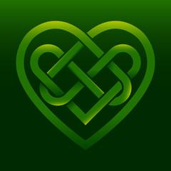 Celtic Irish knot heart vector illustration