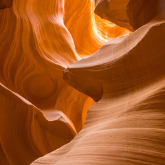 Deurstickers Canyon Antelopes Canyon, the world famous slot canyon