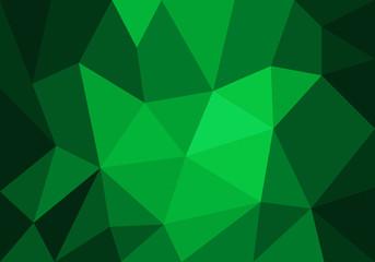 polygonal mosaic green background