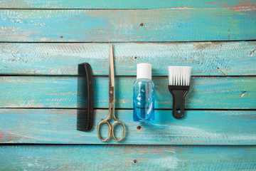 tools from barber shop