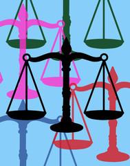 Balance de la justice. Pop art