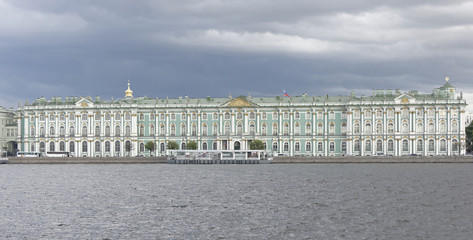 View of the Winter Palace in St. Petersburg on July 5; 2015 in
