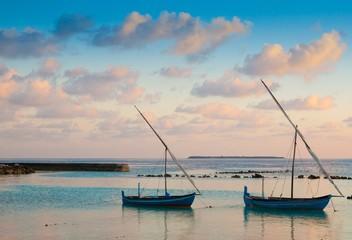 Maldives,  tropical sea boat sunset!