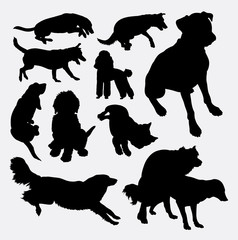 Dog pet animal silhouette 10. Good use for symbol, logo, web icon, mascot, sign, sticker design, or any design you wany. Easy to use.