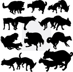 Dog pet animal silhouette 15. Good use for symbol, logo, web icon, mascot, sign, sticker design, or any design you wany. Easy to use.