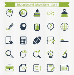 Education and School Icons - Set 1