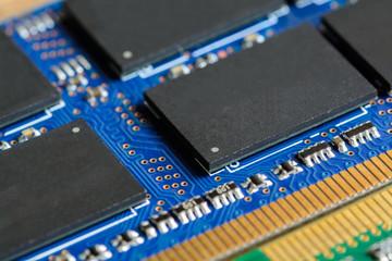 Close up of RAM Computer Memory Chip Modul