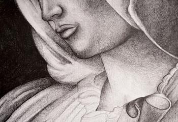 Disegno della Madonna, Vergine Maria