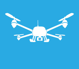 This is an illustration of quadcopter symbol