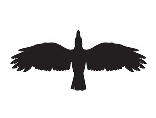 This is an illustration of a crow symbol