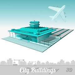 building of airport isolated