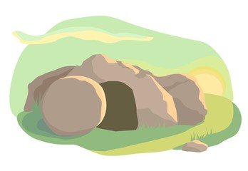 The empty cave. Easter