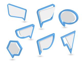 imple web dialog speech bubble