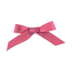 Realistic pink gift ribbon