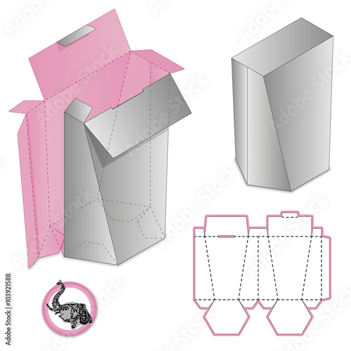 Gift Box Packaging Template Custom Protective Box Design Die