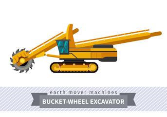 Bucket wheel excavator for earthwork operations