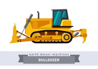 Bulldozer for earthwork operations