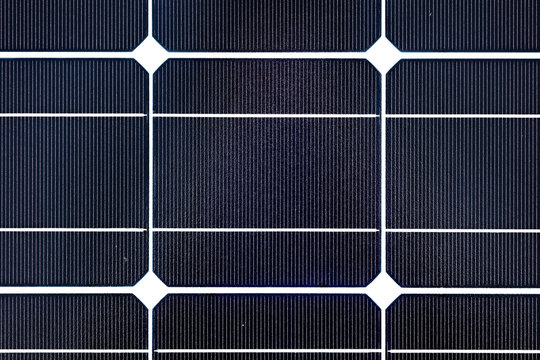 Solar Panel close-up, detail of a photovoltaic panel, Solar panel texture