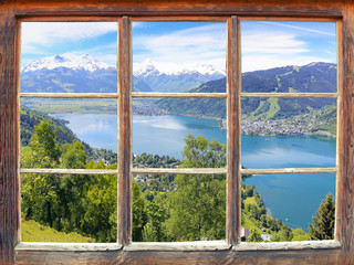 Wall Mural - Fensterblick Zell am See