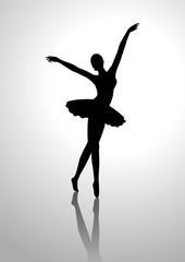 Silhouette illustration of a ballerina