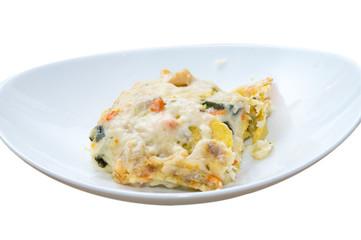 Lasagna di mare, lasagna al sapore di mare, frittella di mare, lasagna al forno con pesce e verdure