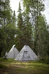 Sami house, kata, in Swedish Lapland