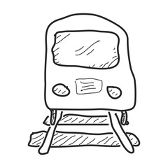 Simple doodle of a train