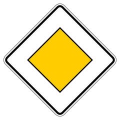 Vorfahrtstraße - Richtzeichen
