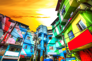 Favela Wall mural