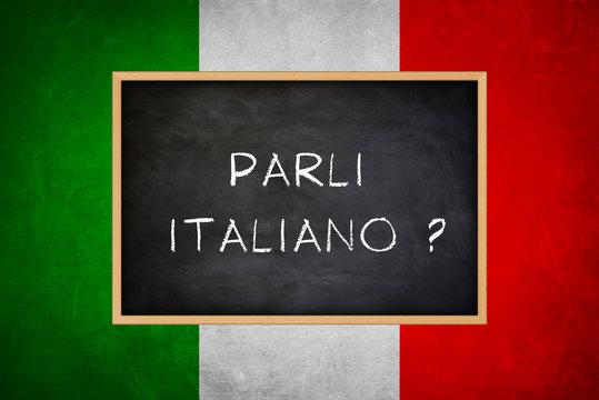 parli italiano - Italian language