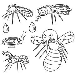 vector set of mosquito