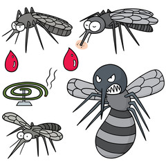 vector set of mosquito