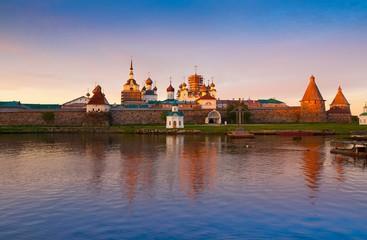 Solovki. Monastery landscape lake sunset!