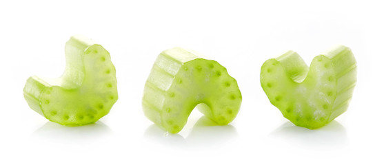 green celery stick pieces