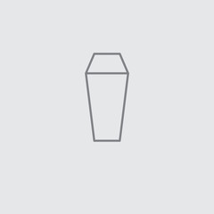 Thin line thermos vector universal icon ..