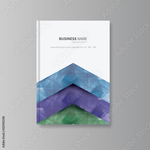 Free Book Cover Templates   Brochure Design Flyer Template Vector Book Cover Layout With