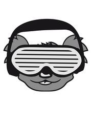 dj party music celebration headphones glasses funky deejay club dancing disco koala head face