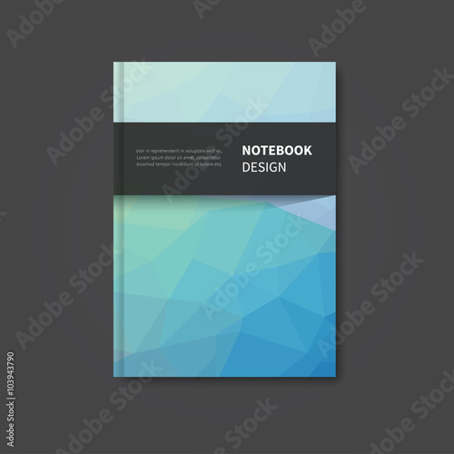 cover book design template / vector brochure notebook background ...