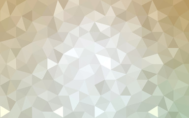 Brown polygonal design pattern, which consist of triangles and gradient in origami style.